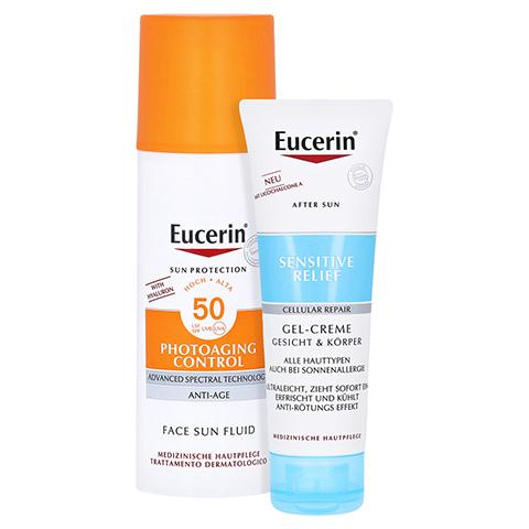 Eucerin Sun Photoaging Control Face Fluid LSF 50 + gratis Eucerin After Sun 50 ml 50 Milliliter