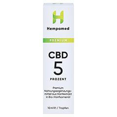 HEMPAMED 5% CBD Tropfen 10 Milliliter - Vorderseite