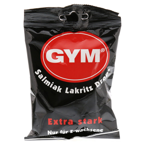 GYM Salmiak Lakritz Drops zuckerhaltig 100 Gramm
