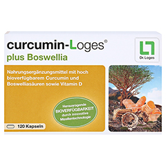 curcumin-Loges plus Boswellia 120 Stück - Vorderseite
