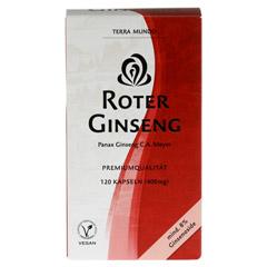 ROTER GINSENG 400 mg 8% von Terra Mundo Kapseln 120 Stück - Vorderseite
