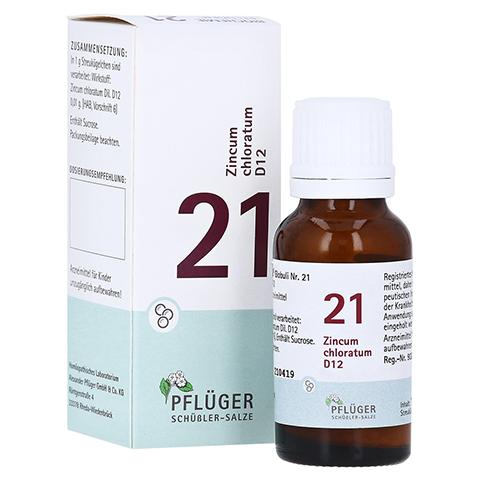BIOCHEMIE Pflüger 21 Zincum chloratum D 12 Globuli 15 Gramm N1