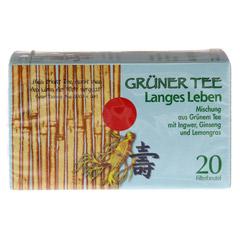 GRÜNER TEE+Ingwer+Ginseng Filterbeutel 20 Stück - Vorderseite
