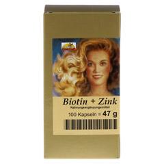 BIOTIN PLUS Zink Haarkapseln 100 Stück - Vorderseite