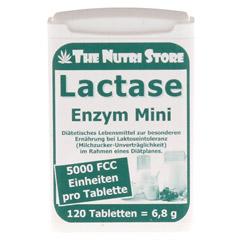 LACTASE 5.000 FCC Enzym Mini Tabl.im Dosierspender 120 Stück - Vorderseite