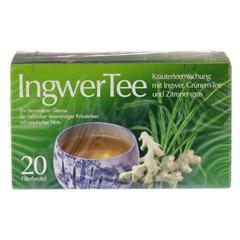 INGWER TEE Filterbeutel 20 Stück - Vorderseite