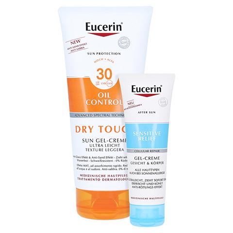 EUCERIN Sun Gel-Creme Oil Control Body LSF 30 + gratis Eucerin After Sun 50 ml 200 Milliliter