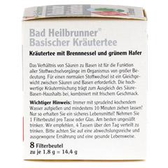 BAD HEILBRUNNER Tee Basische Kräuter Filterbeutel 8 Stück - Linke Seite