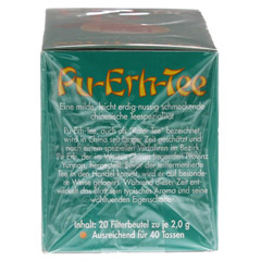 PU ERH Tee Filterbeutel 20 Stück - Linke Seite
