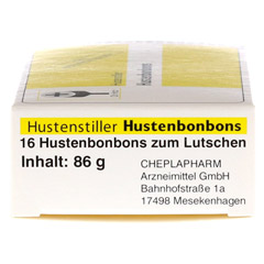 HUSTENSTILLER Hustenbonbon 16 Stück - Linke Seite
