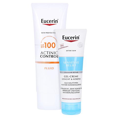 EUCERIN Sun Actinic Control MD LSF 100 Fluid + gratis Eucerin After Sun 50 ml 80 Milliliter