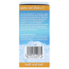 XENOFIT Zinkaktiv C Granulat 10x9 Gramm - Rechte Seite