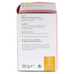 UROVIT Cranberry Pulver 30x3 Gramm - Rechte Seite