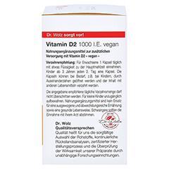VITAMIN D2 1000 I.E. vegan Kapseln 60 Stück - Rechte Seite