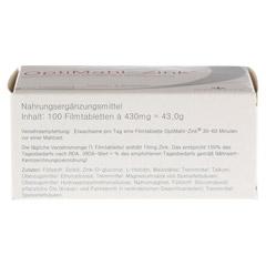 OPTIMAHL Zink 15 mg Tabletten 100 Stück - Unterseite