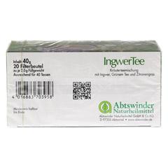 INGWER TEE Filterbeutel 20 Stück - Unterseite