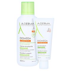 A-DERMA EXOMEGA CONTROL Geschmeidigmachende Creme + gratis A-DERMA EXOMEGA CONTROL Intensiv Körpermilch 200 ml 400 Milliliter