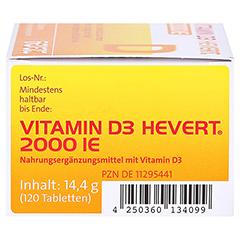 Vitamin D3 Hevert 2.000 I.E. Tabletten 120 Stück - Rechte Seite
