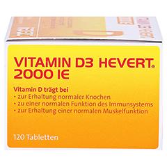 Vitamin D3 Hevert 2.000 I.E. Tabletten 120 Stück - Linke Seite