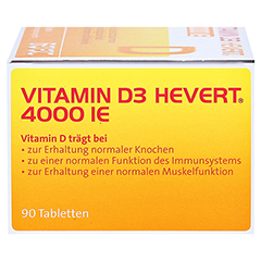 Vitamin D3 Hevert 4.000 I.E. Tabletten 90 Stück - Linke Seite