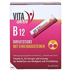 VITA AKTIV B12 Direktsticks mit Eiweißbausteinen 90 Stück - Vorderseite