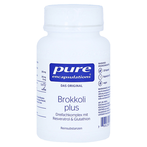 PURE ENCAPSULATIONS Brokkoli plus Kapseln 30 Stück
