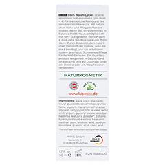 LUBEXXX Intim Wasch-Lotion sanft pH-neutral 50 Milliliter - Rückseite