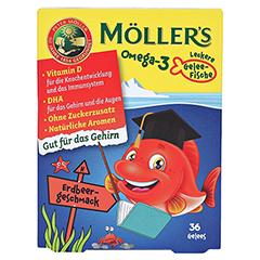 MÖLLER'S Omega-3 Gelee Fisch Erdbeere Kautabletten 36 Stück - Vorderseite