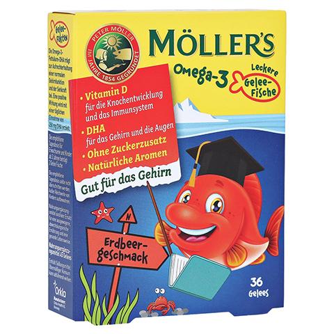 MÖLLER'S Omega-3 Gelee Fisch Erdbeere Kautabletten 36 Stück