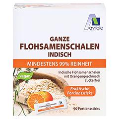 FLOHSAMENSCHALEN indisch Sticks Orange 90 Stück - Vorderseite