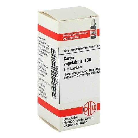 CARBO VEGETABILIS D 30 Globuli 10 Gramm N1