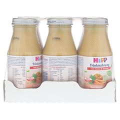 HIPP Trinknahrung Kürbis & Karotte hochkalorisch 6x200 Milliliter - Vorderseite