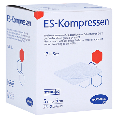 ES-KOMPRESSEN steril 5x5 cm 8fach 25x2 Stück