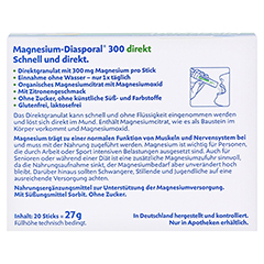 MAGNESIUM DIASPORAL 300 direkt Granulat 20 Stück - Rückseite