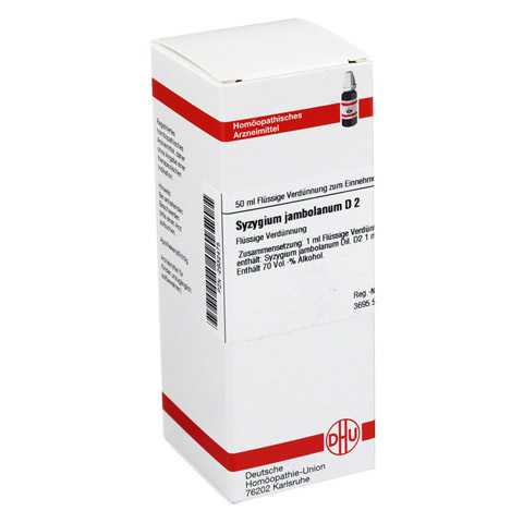 SYZYGIUM JAMBOLANUM D 2 Dilution 50 Milliliter N1
