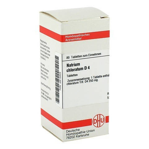 NATRIUM CHLORATUM D 4 Tabletten 80 Stück N1