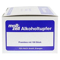 MOLL-ZELL Alkoholtupfer 100 St�ck - Rechte Seite