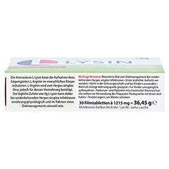L-LYSIN 750 mg Tabletten 30 Stück - Unterseite