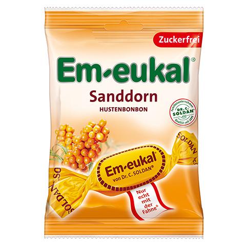 EM EUKAL Bonbons Sanddorn zuckerfrei 75 Gramm