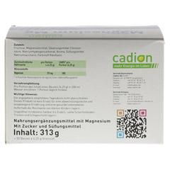 CADION Magnesium Mg Granulat Beutel 50x6.25 Gramm - Rückseite