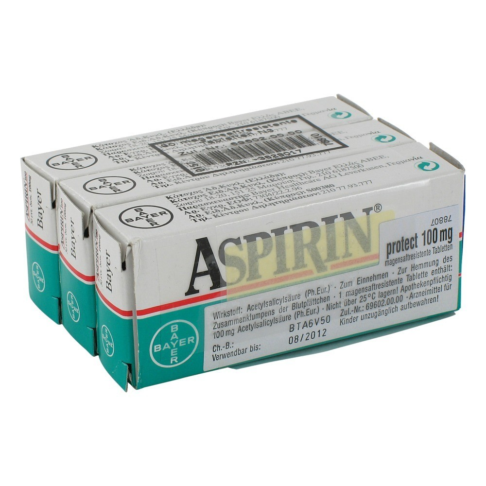 Aspirin protect 100 mg verschreibungspflichtig