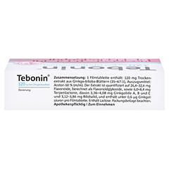 Tebonin 120mg bei Ohrgeräuschen 60 Stück N2 - Oberseite
