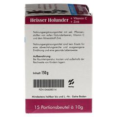 HEISSER Holunder+Vit.C+Zink Pulver 15x10 Gramm - Rechte Seite