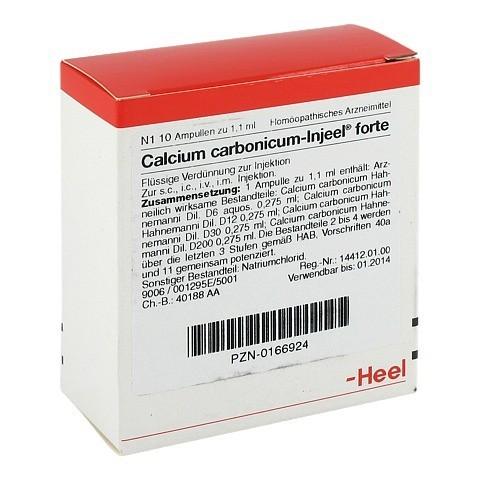 CALCIUM CARBONICUM INJEEL forte Ampullen 10 St�ck N1
