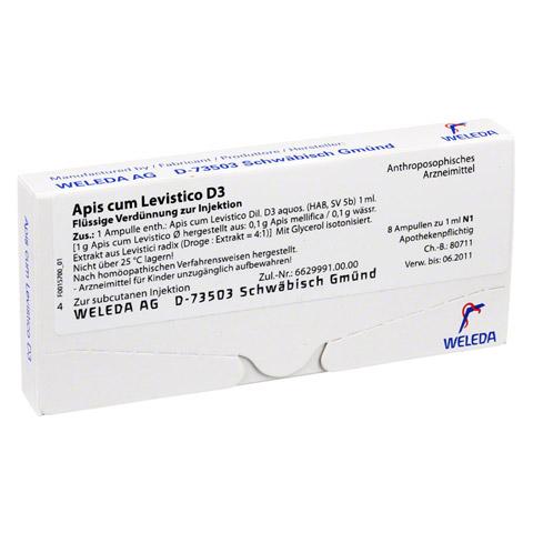 APIS CUM levistico D 3 Ampullen 8x1 Milliliter N1