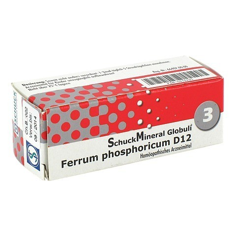 SCHUCKMINERAL Globuli 3 Ferrum phosphoricum D12 7.5 Gramm