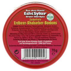 ECHT SYLTER Erdbeer/Rhabarber Bonbons zuckerfr. 70 Gramm - Rückseite