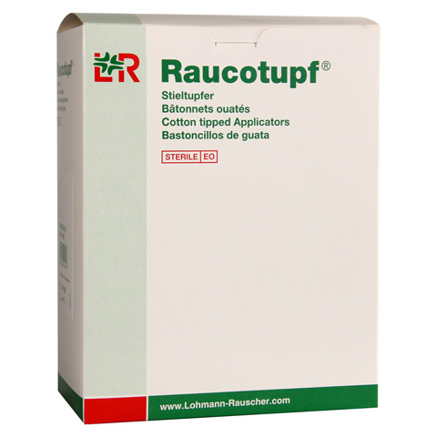 RAUCOTUPF Stieltupfer 1 St ster.großer Wattekopf 50x2 Stück