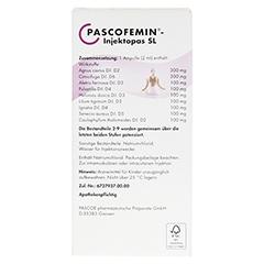 PASCOFEMIN Injektopas SL Ampullen 10x2 Milliliter N1 - Rückseite