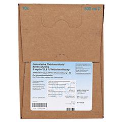 ISOTONISCHE NaCl BC 9 mg/ml 0,9% Inf.-L.Plastikfl. 10x500 Milliliter N2 - Vorderseite